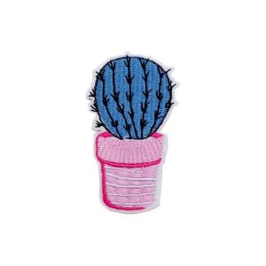 Embroidered Cactus Barrel Patch