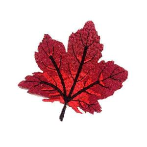 Red Maple Leaf Embroidered Patch