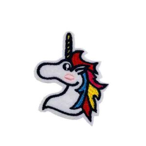 Multi Color Unicorn Face Embroidery Patches