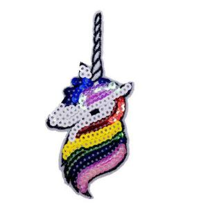 Multi Color Hair Unicorn Patch
