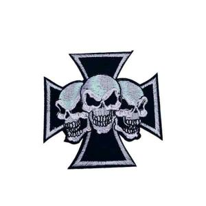 Three Skull Patch for Jackets