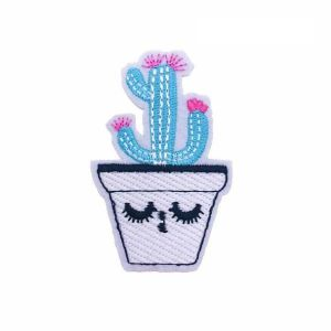 Pink Flower Cactus Plant Patch