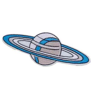 Grey and Blue Color Saturn Patch