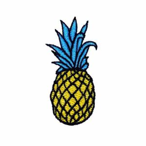 Embroidered Tropical Fruit Patch