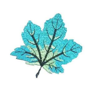 Blue Maple Leaf Patch
