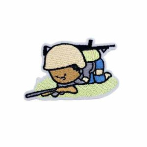 Crouching Kid Soldier Patch
