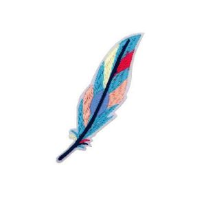 Colorful Bird Feather Patch
