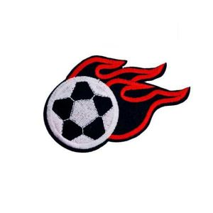 Flaming Soccer Patch