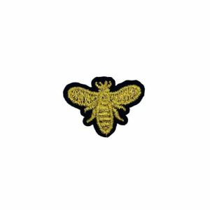 Golden Embroidered Bee Patch