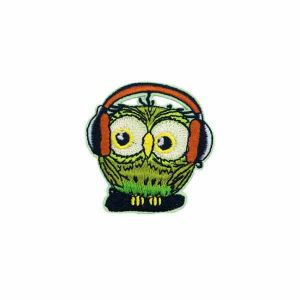 Green Owl Embroidery Patch