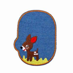 Embroidered Fawn Patch