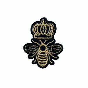 Queen Bee Embroidery Patch