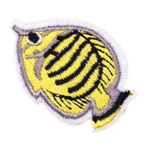 Iron on Yellow Discus Fish Patch