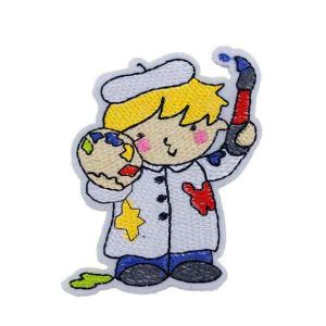 Painter Artist Boy Cartoon Patch