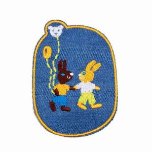 Embroidered Rabbit Friends Patch