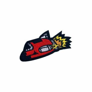Red Space Rocket Patch