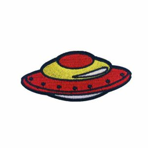 Red Flying UFO Patch