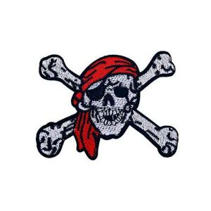 Pirate Skull and Crossbones Iron on Patch