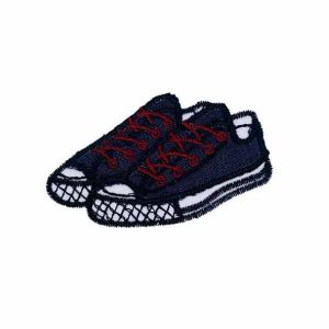 Blue Sneaker Shoes Patch Iron on