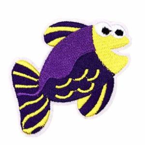 Purple and Yellow Fish Patch