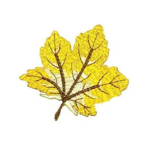 Golden Yellow Maple Leaf Patch