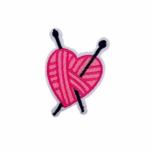 Pink Knitting Badge