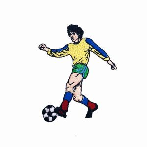 Soccer Player Embroidered Patch