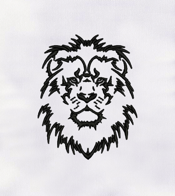 Outstanding Black Outline Lion Embroidery Design Digitemb Premium stock photo of cute lion in outline black and white. outstanding black outline lion embroidery design