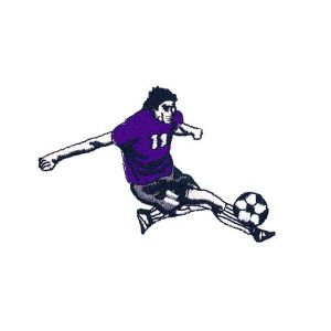Embroidered Soccer Player Patch