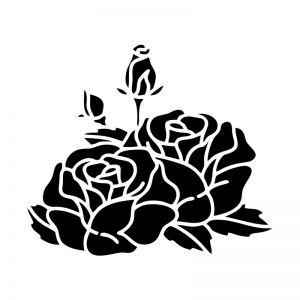 Flower Stencil Art