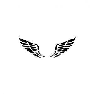 Angel Wings Stencil Art
