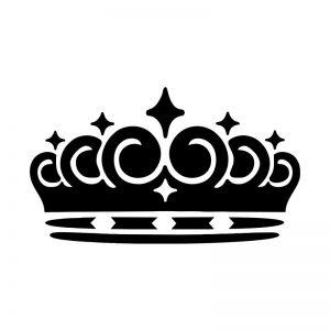 Crown stencil Art