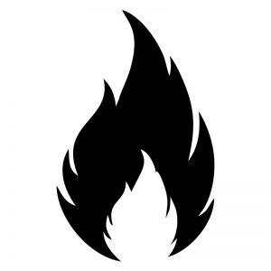 Fire Stencil Art