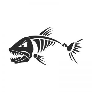 Fish Bone Stencil Art