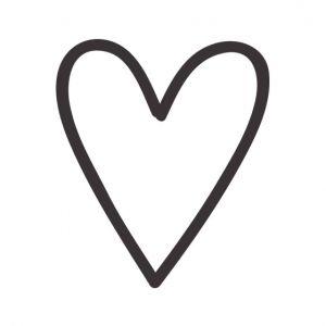 Heart Stencil Art