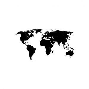 Map Stencil Art