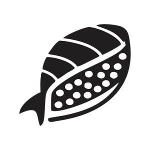 Sushi Stencil Art
