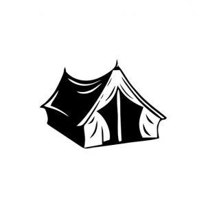 Tent Stencil Art
