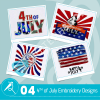 4th Of July Embroidery Bundle