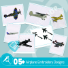 Airplane Embroidery Bundle