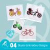 Bicycle Embroidery Bundle