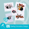 Bowling Embroidery Bundle