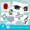 Education Embroidery Collection