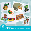 Food Embroidery Collection