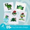 Frog Embroidery Bundle