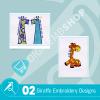 Giraffe Embroidery Bundle
