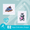 Hippo Embroidery Bundle