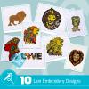 Lion Embroidery Bundle