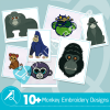 Monkey Embroidery Bundle