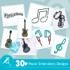 Music Embroidery Collection